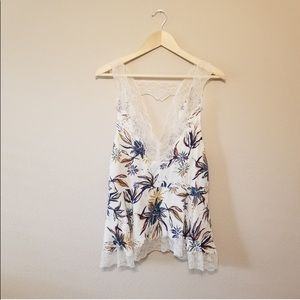 Intimately Free Tropical Lace Tank Top S